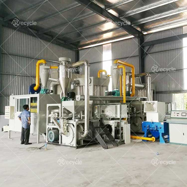 Customer site of aluminum-plastic sorting and recycling equipment